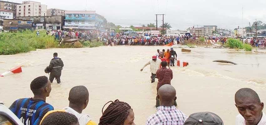 Une digue pour combattre les inondations
