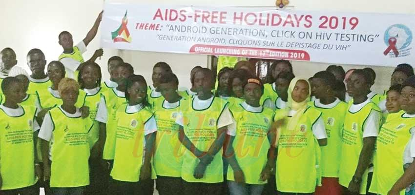 Youths together to stamp out HIV.