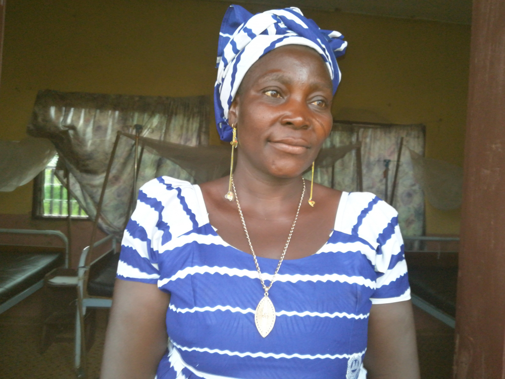 """Adama Delphine: """"It is safer to deliver women in health facilities."""""""