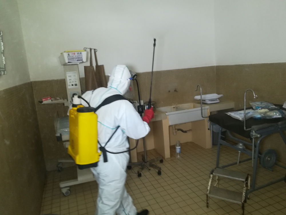 Garoua Regional Hospital Maternity is regularly disinfected to guard against Covid-19 infections.