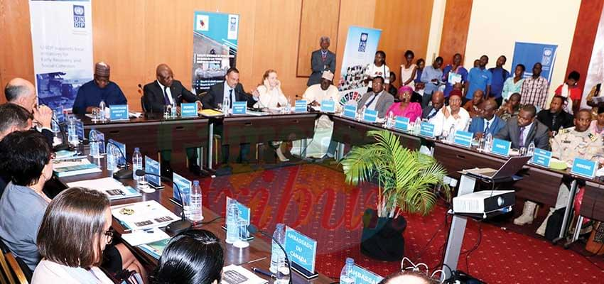 The members of the National Partner Platform holding their first board meeting in Yaounde.