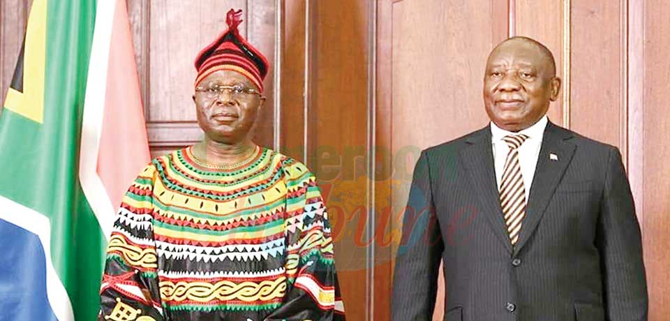 South Africa Cameroon's : High Commissioner Presents Credentials