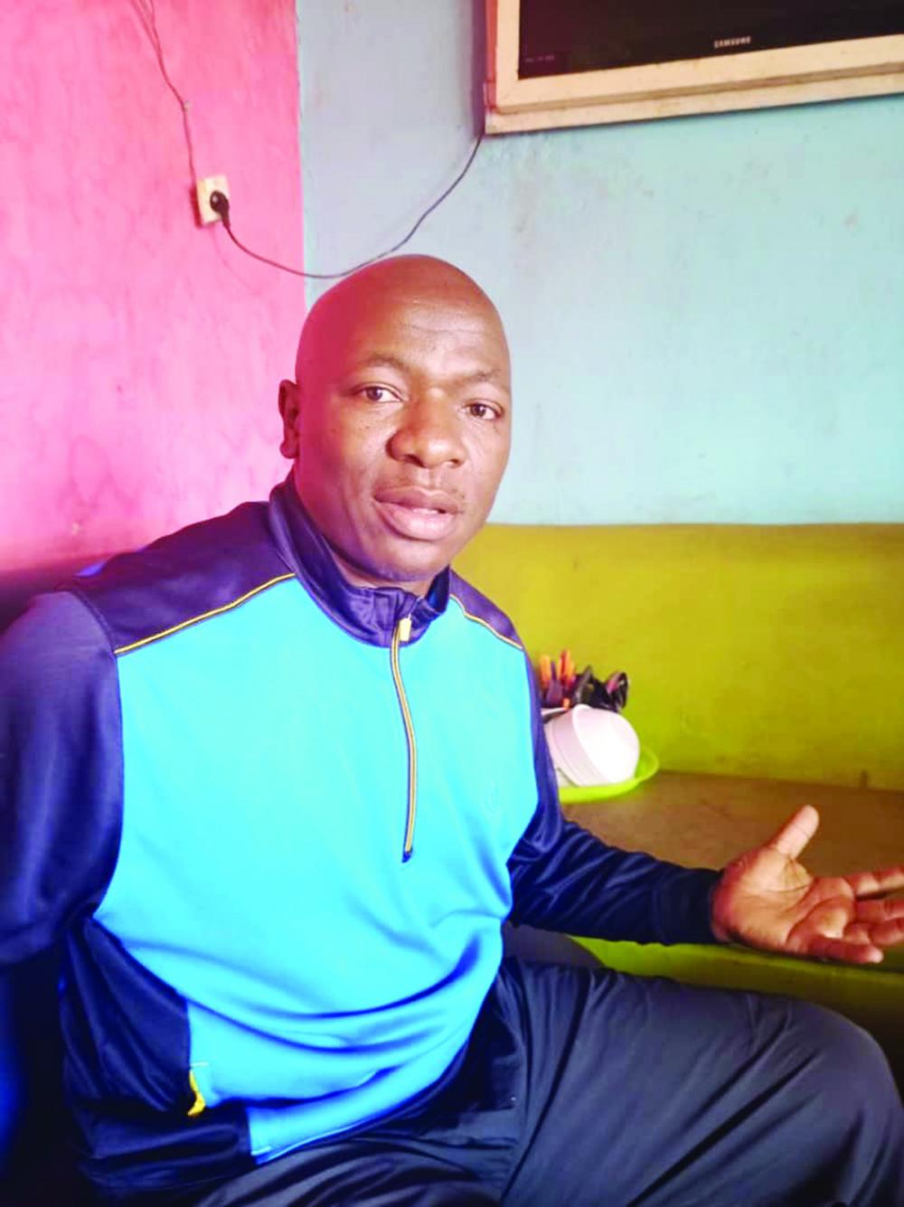 Serge Christian Guebogo, entraîneur de l'équipe nationale de handball.