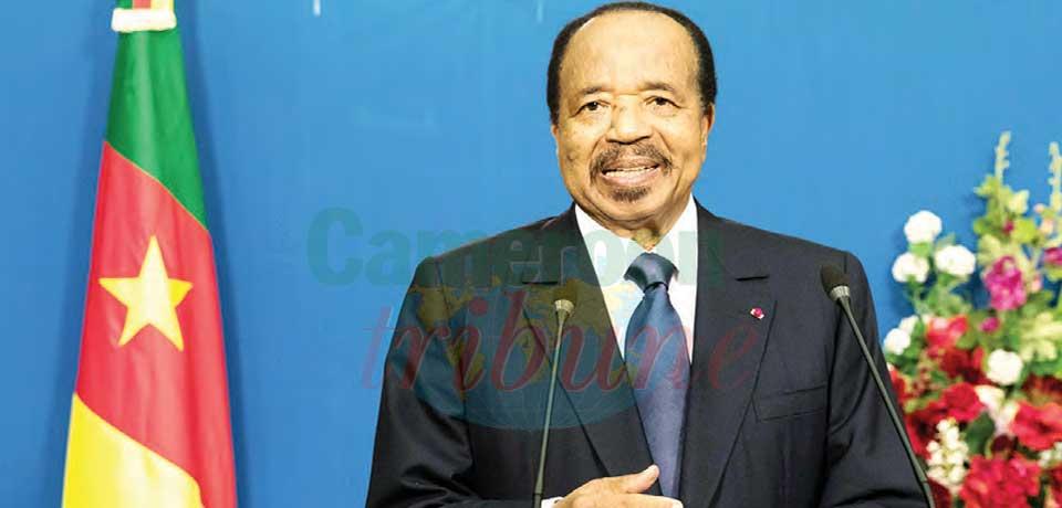 11 février  : Paul Biya parle aux jeunes
