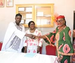 -Sorèle Guebediang à Bessong dans ses nouvelles fonctions.