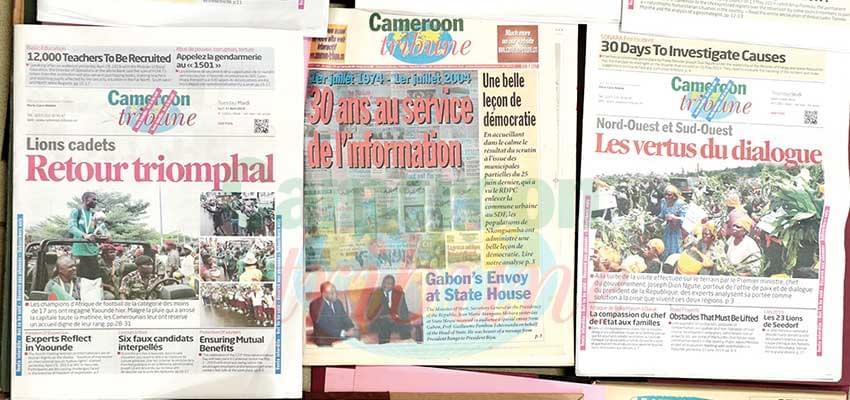 Cameroon Tribune : 45 ans et un avenir prometteur