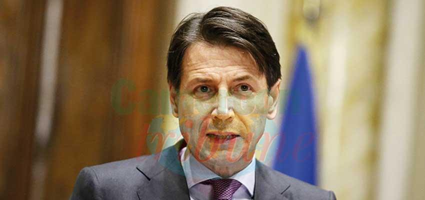 Italy's out-going Prime Minister Giuseppe Conte.