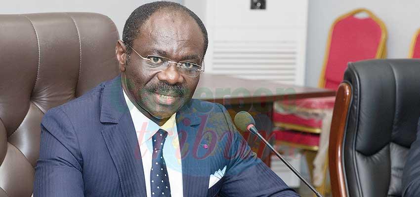 Narcisse Mouelle Kombi, ministre des Sports et de l'Education physique et président du COCAN 20-21.