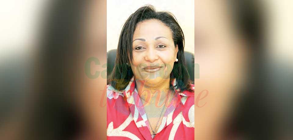 Céline Eko'o, présidente de la Ligue de football féminin du Cameroun.