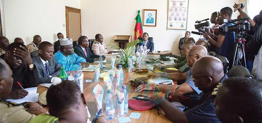 The meeting was the occasion to map out more security measures for peace to return.