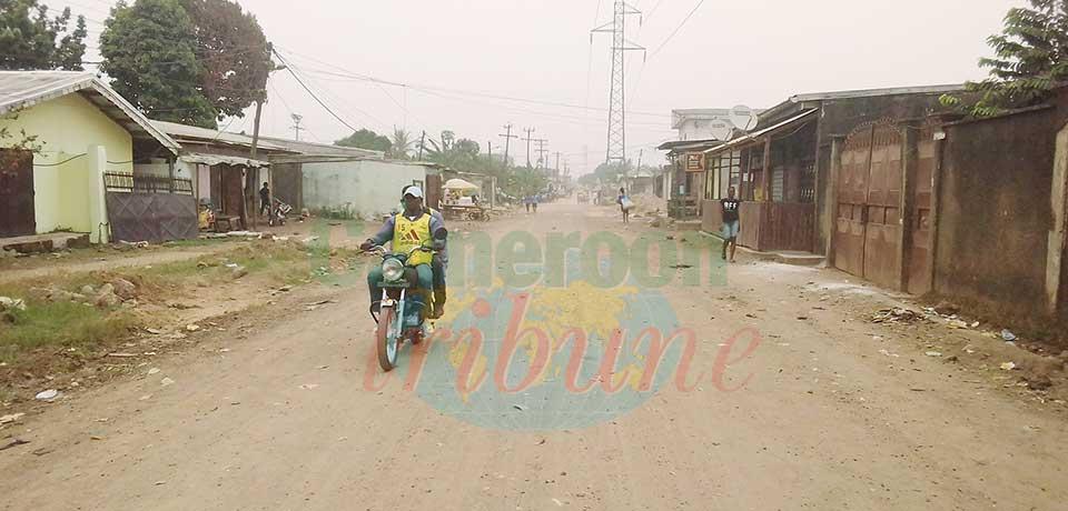 Une des routes rouvertes par l'exécutif communal de Douala III.