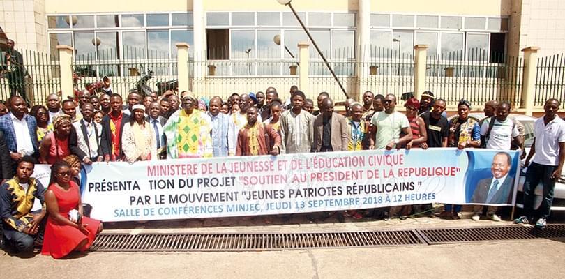 Image : Soutien à Paul Biya: un collectif de jeunes s'aligne