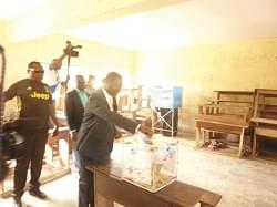 Afanwi Ndifor Votes In Douala