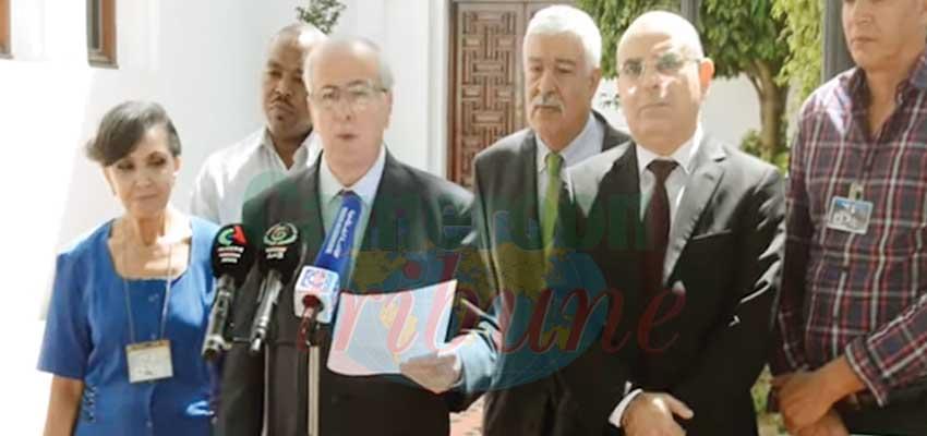Le Panel de médiation présentant son plan de travail.