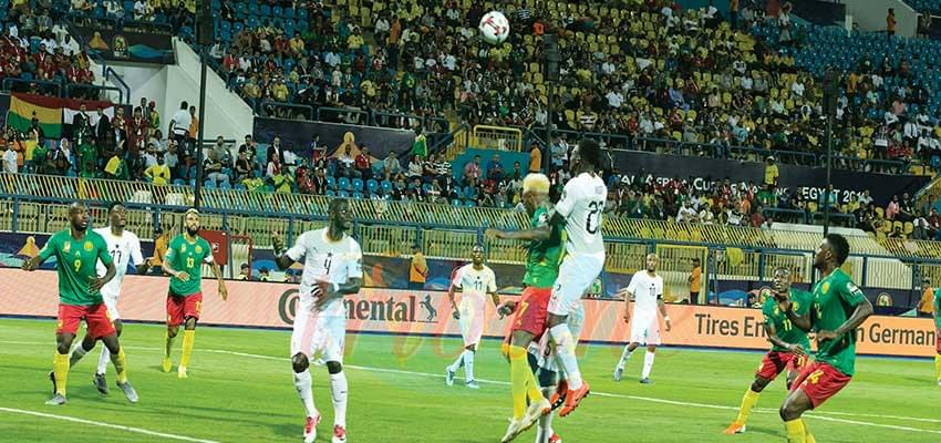 Une phase du match Cameroun-Ghana.