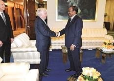 It was a convivial Paul Biya-Pierre Castel meeting.