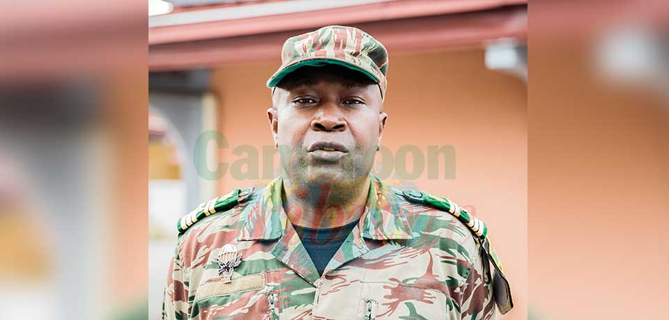 Colonel Simon Ndongo Ndongo, commandant du 11e régiment du Génie militaire.