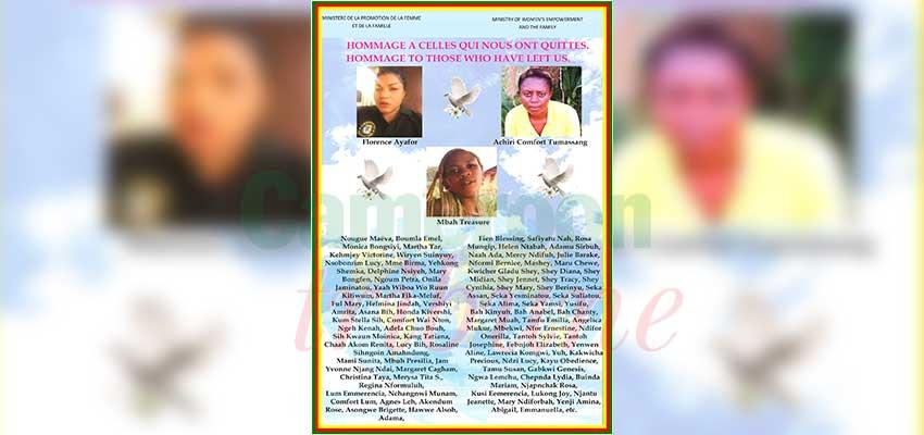 Femmes assassinées dans le Nord-Ouest et le Sud-Ouest : afin que nul n'oublie