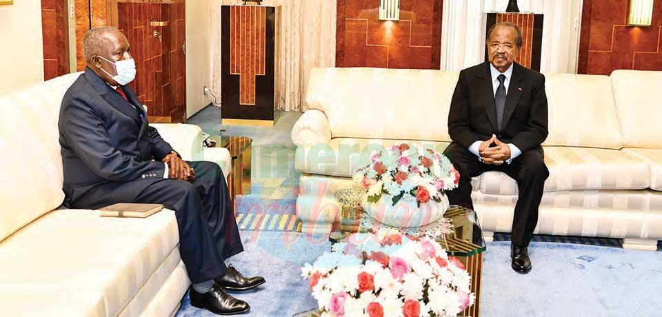 Avant de quitter Yaoundé, après sept années de mission au Cameroun, Martial Beti-Marace est allé exprimer sa gratitude et sa satisfaction au chef de l'Etat mercredi.Avant de quitter Yaoundé, après sept années de mission au Cameroun, Martial Beti-Marace es