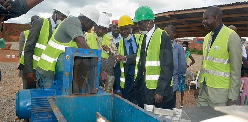 Image : Plastic waste:  Olembe Gets Recycling Unit