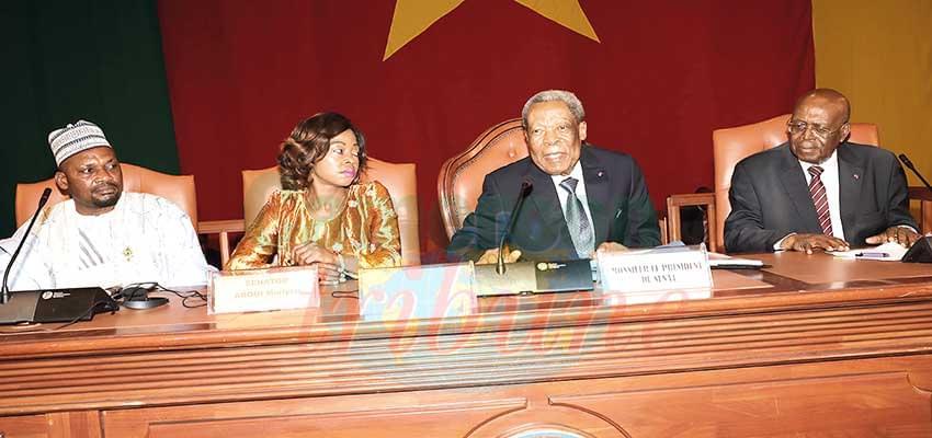 Senate : Marcel Niat Njifenji Re-elected President