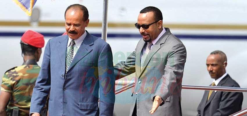 Abiy Ahmed et Issayas Afeworki, déterminés à trouver un accord.