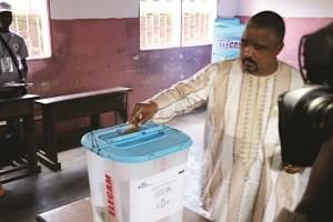 Image : Joshua Osih a voté à Joss