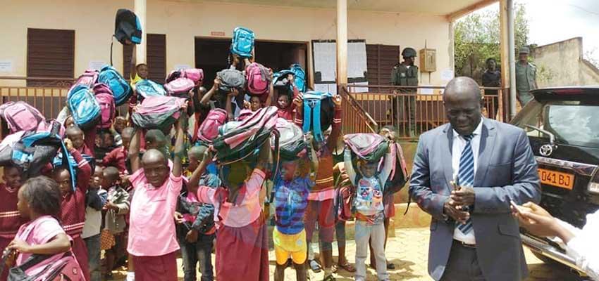 Bamenda I D.O went encouraging education on day one