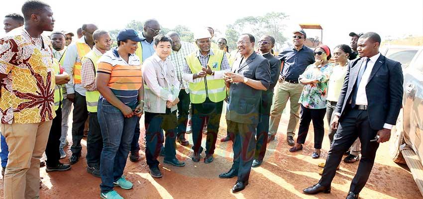 Image : Batchenga-Ntui-Yoko-Lena-Tibati Road : Minister Galvanises Construction Firms