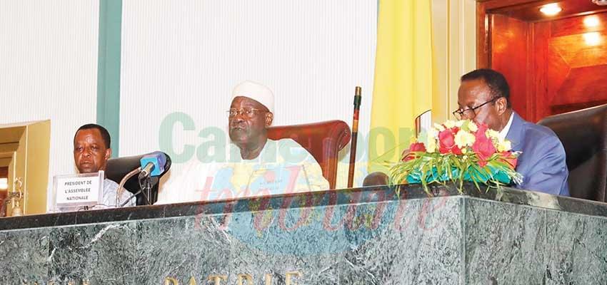 The Speaker of the National Assembly, Hon. Cavaye Yeguie Djibril chairing the plenary sitting.