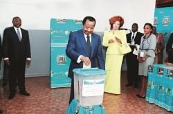 Image : Election présidentielle: comment Paul Biya a voté