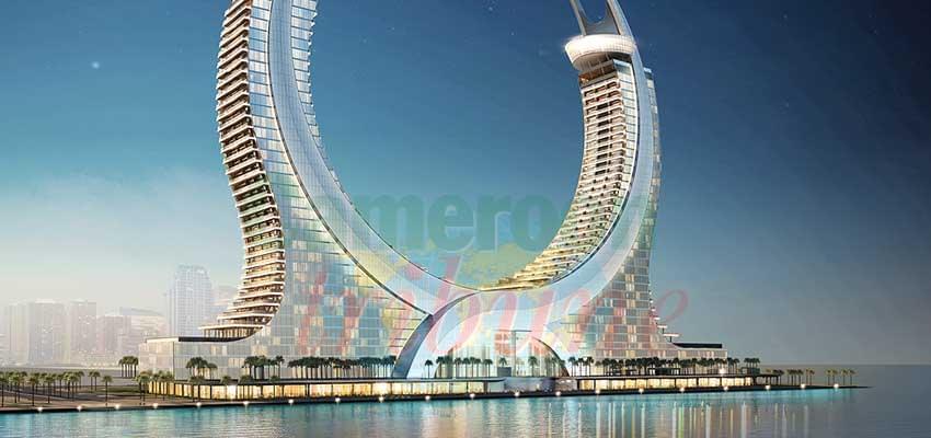 La maquette de « Katara Towers », établissement hôtelier qui va accueillir des participants au Mondial de 2022