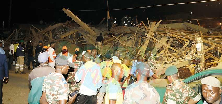Yaoundé : un immeuble s'écroule et fait quatre morts