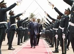 Image : President Paul Biya's triumphal entry at the ceremonial ground