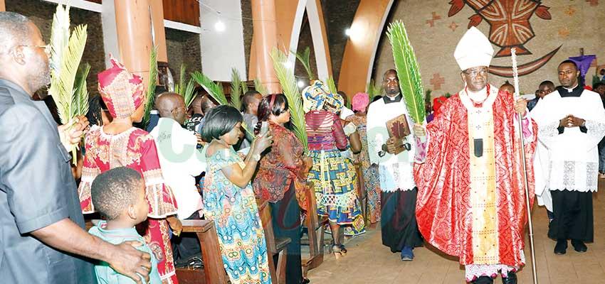 Dimanche des rameaux: Mgr jean Mbarga invite les fidèles à être de bons chrétiens