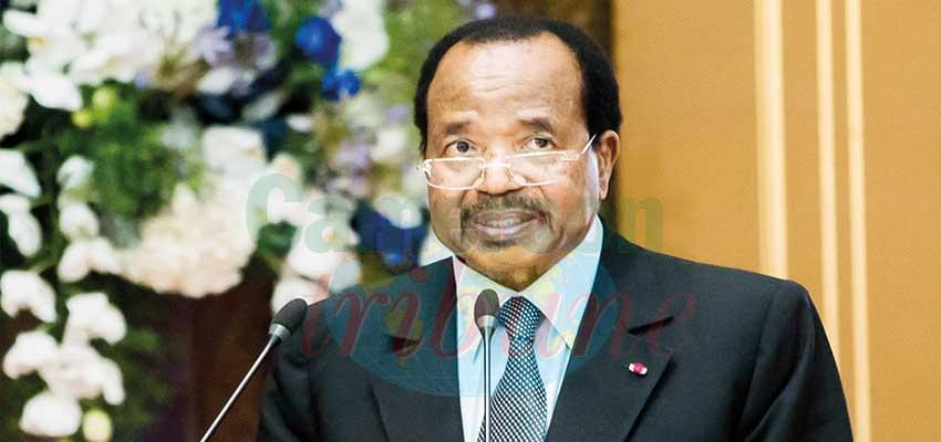 """President Paul Biya, """"We should work towards ensuring acceleration of integration by fully implementing the free movement of persons and goods."""""""