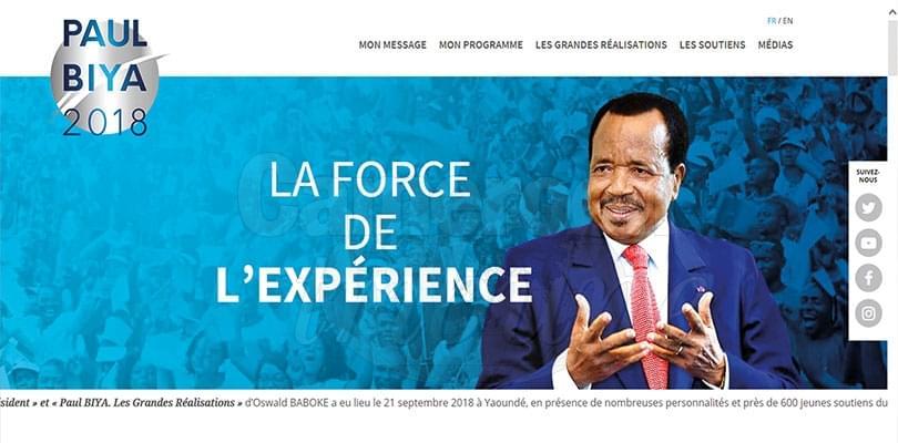 Image : Paul Biya affiche ses soutiens