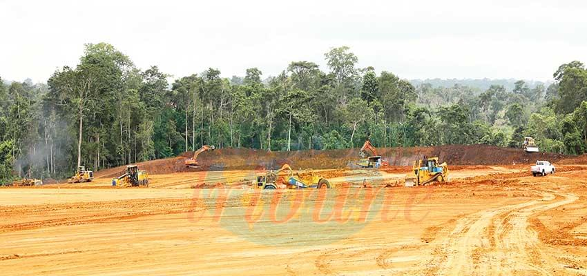 Heavy duty equipment at Nachitgal project site
