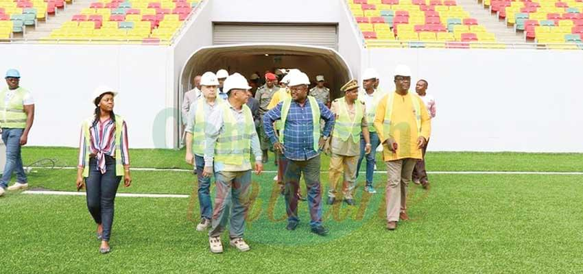 Contractors say the stadia are now ready for competition.