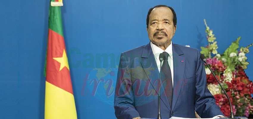 Paul Biya : « J'en appelle au patriotisme et au sens des responsabilités de tous. »