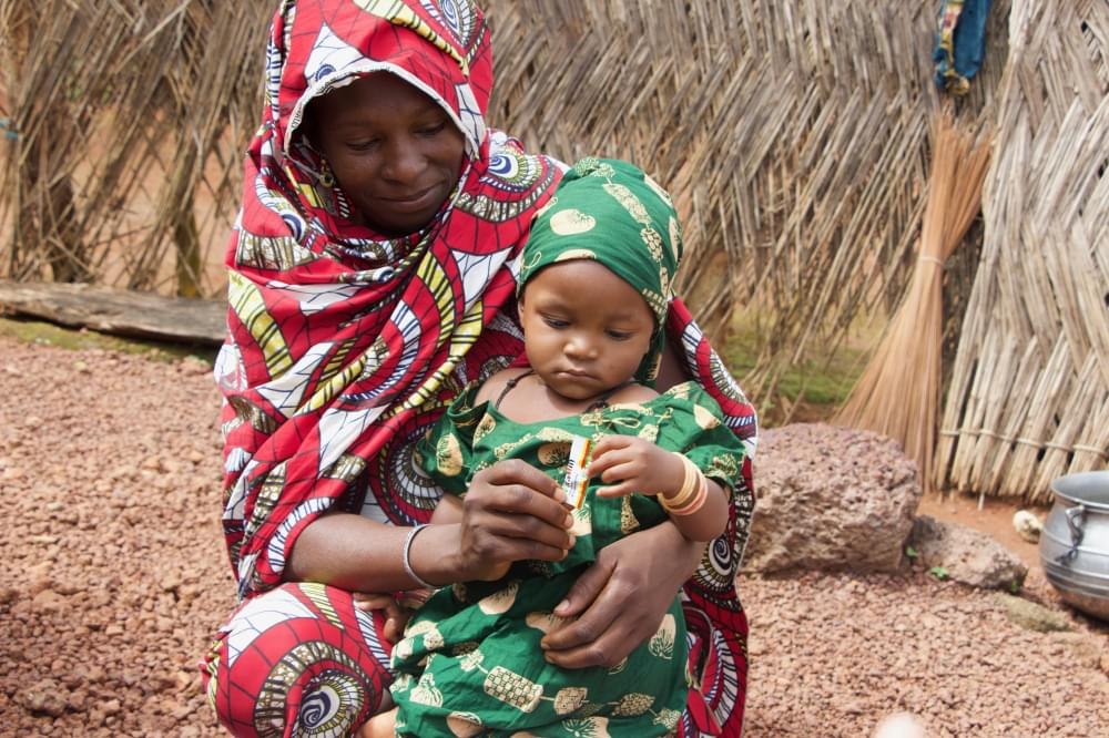 Nourra is today healthy because she has been receiving micronutrients to prevent malnutrition.
