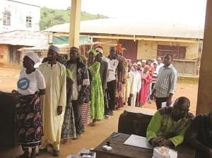 Misaje: Courageous Voters Perform Civic Rights
