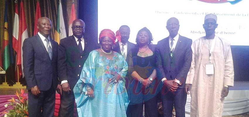 Une vue des membres de la délégation camerounaise aux travaux d'Abidjan.