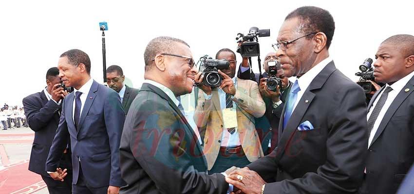 Le président Obiang est arrivé vendredi