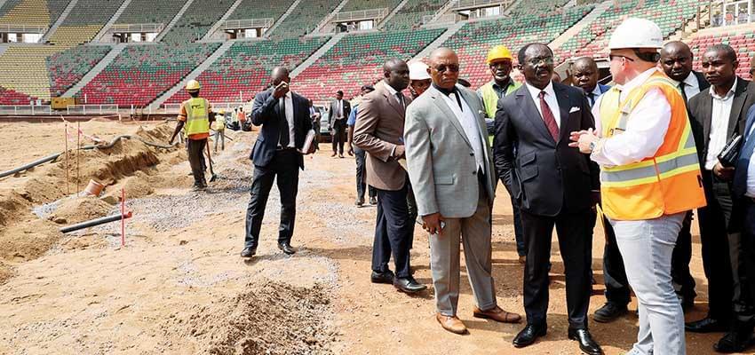 Chantier du stade d'Olembe : ça s'active sur l'aire de jeu