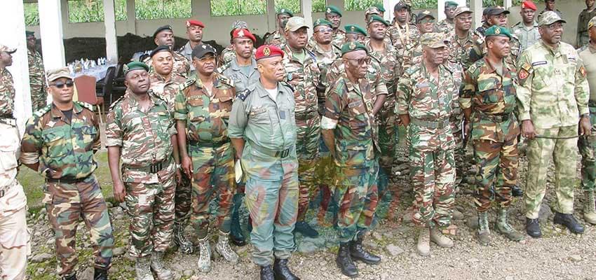 Major General René Claude Meka in Buea yesterday.
