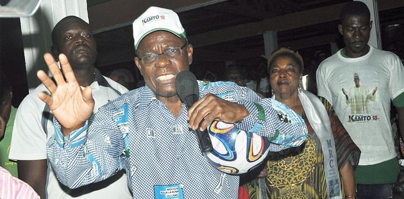Image : MRC: Maurice Kamto à Bertoua