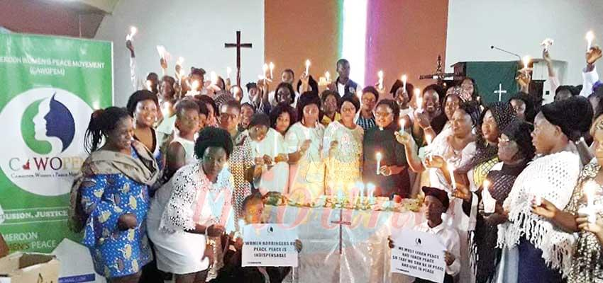 The women prayed God to brighten the hearts of all Cameroonians with peace.