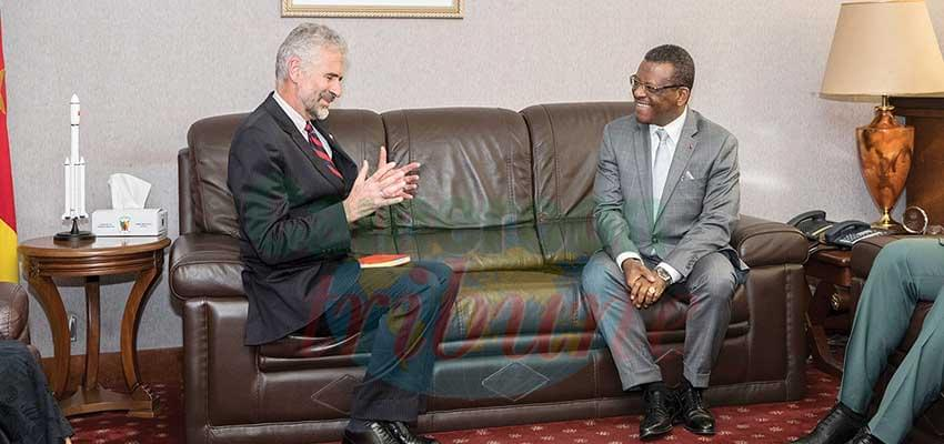 PM Dion Ngute and new Canadian High Commissioner discussing ways of fostering relations.