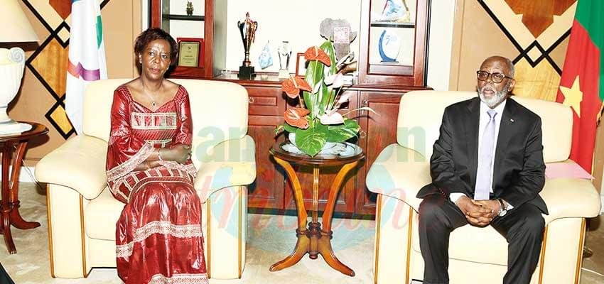 The Minister of External Relations with the SG of La Francophonie.